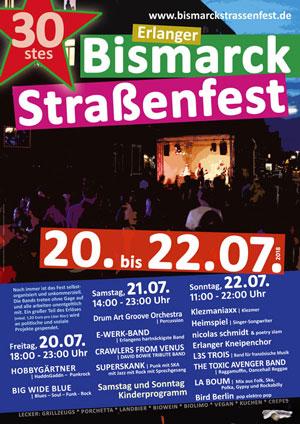 Plakat 30. Bismarckstraßenfest
